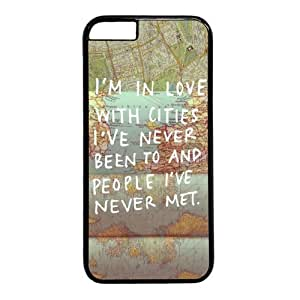 Lovely Quote I'm In Love With Cities I've Never Been And People I've Never Met Case Cover For SamSung Galaxy Note 4 Caseinch)