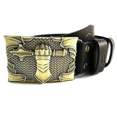 Full-grain calfskin belt with