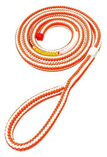 ROPE Logic Split Tail Hi-Vee 13mm X 5' Single Eye Rope, Orange/White ()