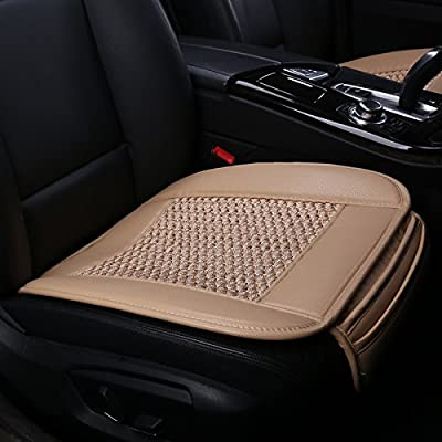 Car Seat Covers,Ice Silk Car Seat Cushion Covers Pad Mat[carbonized Leather] Ventilated Breathable Comfortable Interior Seat Covers, Anti-skid Four Seasons General Suninbox