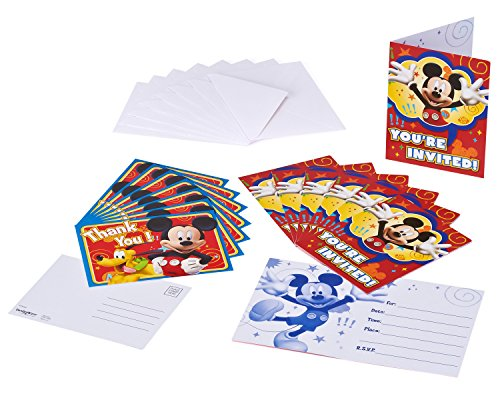American Greetings Mickey Mouse Invite and Thank You Combo Pack, 8-Count