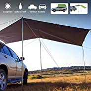 Fay Bless Camping Tarp for SUV Car,Lawn & Garden,Beach, Multifunctional Waterproof Fly Tent Tarp 440cm x 2