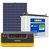 Luminous Solar Home Solution NXG1100 & 150Ah Solar Tubular Battery & 150W Poly Crys Module