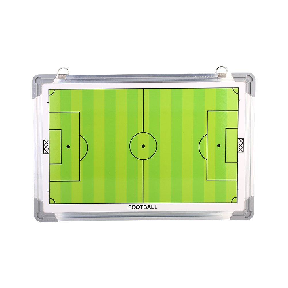 Football Soccer Magnetic Coaching Board, Waterproof Aluminum Tactic Strategy Board, Lightweight Training Equipment with Hanging Hook and Erasable Marker Pen eecoo