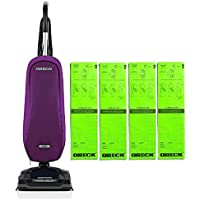 Oreck Upright Vacuum Cleaner Axis with 4 Oreck SELECT Bags Bundle   3 YEAR Warranty   2 Tune Ups   Carpets, Tile and Hardwood Flooring   Dirt, Debris, Pet Hair   Lightweight, High-Suction Clean