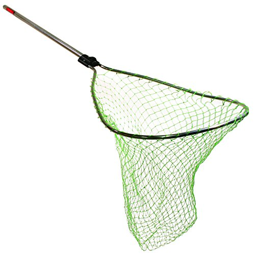 Frabill Sportsman Scooper with 36-Inch Slide Handle (Poly Net), 21 x 25-Inch, Black
