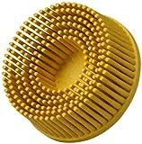Scotch-Brite(TM) Roloc(TM) Bristle Disc, Ceramic, 25000 rpm, 2 Diameter, 80 Grit, Yellow (Pack of 10)