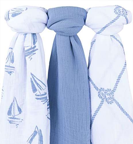 Cotton Muslin Swaddle Blanket 3 Pack 47