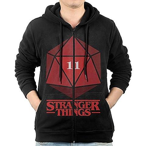 ADKKSI Casual Mens Stranger Things 11 Full-Zip Sweatshirt Hoodie Jacket X-Large - Thing Mens Hoodie