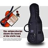 #7: Violin Case Bag Backpack , Professional Portable Violins Soft Case Box Violin/ Viola Oxford Shoulder Bag Pouch Fiddle Storage Handbag Accessories with Carry Straps