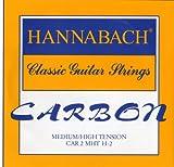 Hannabach Strings for classic guitar CARBON Medium/High tension Discant H2 single string