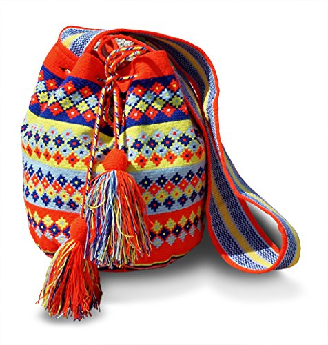 Authentic Hand Woven Traditional Large Wayuu Shoulder Bag By FORMA Model WAC400