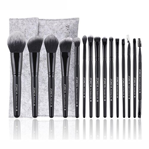 Voberry 20PCS Make Up Foundation Eyebrow Eyeliner Blush Cosmetic Concealer Brushes Set (Black)