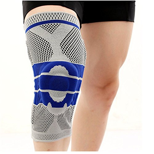Sportai Knee Brace Support Professional Sleeve Protector Gray Xl Size For Running Riding Basketball Football Soccer Playing