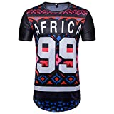 YUNY Men's Short Sleeve African Floral Print Ethnic Style Dashiki Pullover Regular-Fit Hip Hop Tees Top As Picture S