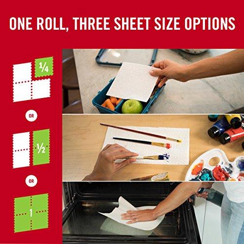 Brawny Tear-A-Square Paper Towels, 12 Rolls, 12 = 24 Regular Rolls, 3 Sheet Size Options, Quarter Size Sheets by Brawny (Image #4)