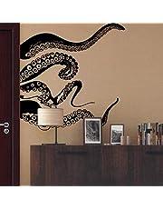Muurstickers Art DIY verwijderbare muurschildering muurschildering Vinyl Octopus Tentacle voor badkamer Wasruimte