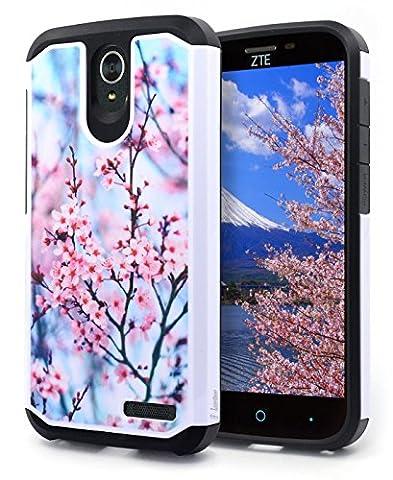 ZTE Warp 7 Case, ZTE Grand X3 Case, ZTE ZMAX Grand LTE Case, ZTE ZMAX Champ Case, ZTE Avid 916 Case, NageBee Design Premium [Heavy Duty] Defender Dual Layer Protector Hybrid Case - Pink (Zte Zmax Phone Case Pink Hybrid)