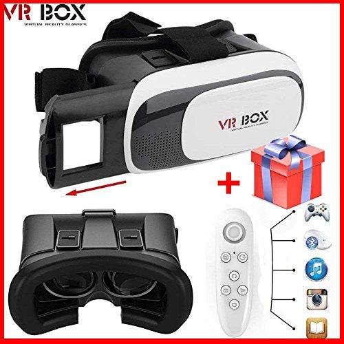 Google Cardboard Virtual Glasses Vr Box 2.0 With Remote, Video 3d, Gaming Headphones, Reality Helmet