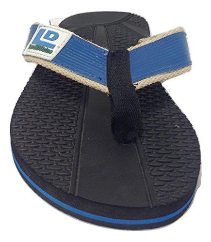 Décharge Dzine Recyclé Mens Flip Flops Bleu 13 M Us