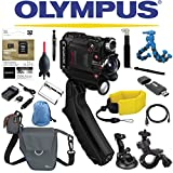 Olympus Stylus Tough TG-Tracker Wifi Action Camera (Black) + Sony 32GB MicroSD Card + Floating Strap + Flexpod + Case + Travel Charger + Battery + Suction Mount + Bike Mount + Selfie Action Cameras