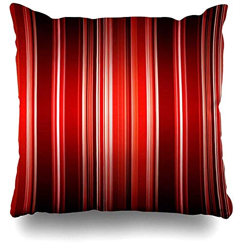 Throw Pillow Cover Antique Brown Stripe Striped Many Red Colors Gradient in Top Shadow Bottom Holidays Line Black White Home Decor Cushion Case Square Size 18