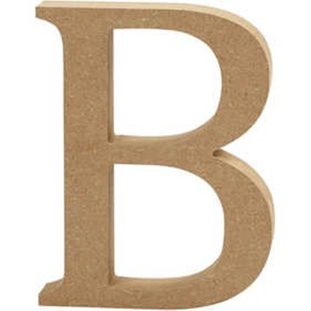 Grande lettera B in legno MDF, da decorare: Amazon.it: Casa e cucina