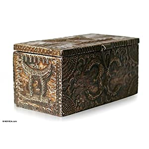 NOVICA Handcrafted Wood and Aluminum Jewelry Box, King's Treasures'