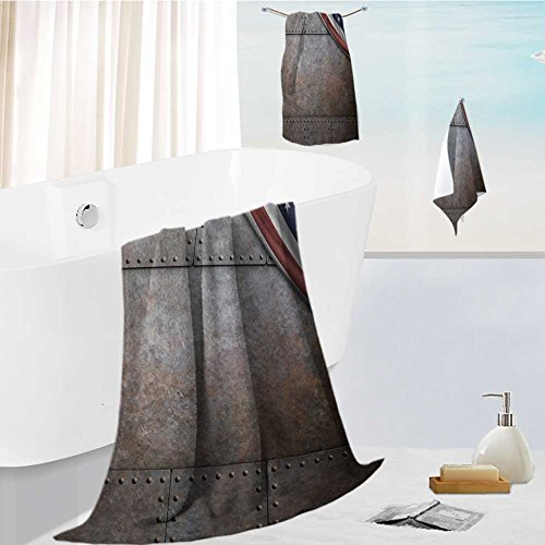 Price comparison product image FBAHOME Microfiber Beach Towel set with Travel rust steel metal texture with rivets as steam punk background Ultra Absorbent Towel for the Beach