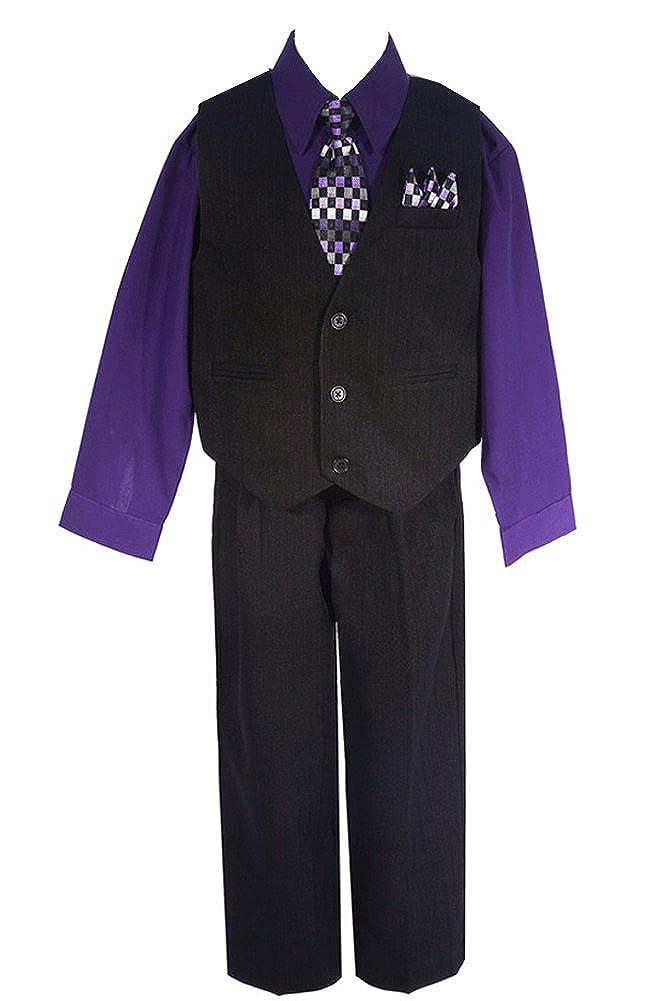AMJ Dresses Inc Little Boys 4 Pieces Pinstripe Formal Set