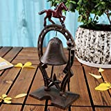 LXYFMS Cast Iron Hand doorbell Wrought Iron Wind Chime Retro Decoration Rattle Home Decoration Crafts 12.5x8.5x27cm Cast Iron doorbell