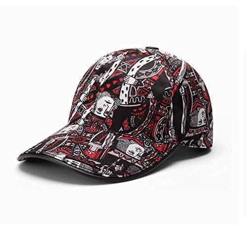 SLH 夏のポーカーキャップブラック野球帽子男性の女性のキャップ屋外の日焼け止め帽子
