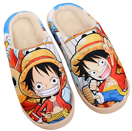 Zapatillas Cálidos Lindos De 1 Suave Cosstars Casa Zapatos Piece Antideslizante Anime Felpa Japanese Interior One qaIxCIwB4