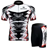 FREE FISHER Men's Short Sleeve Cycling Jersey Set