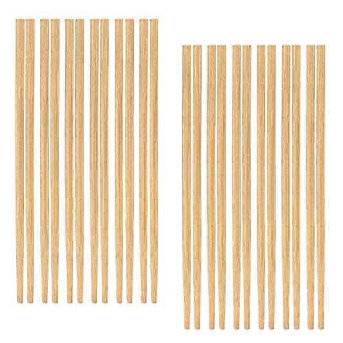 (AusKit Chinese Natural Bamboo Chopsticks, 12 Pairs Reusable Chopsticks Set 8.8 Inches, Easy to Hold)