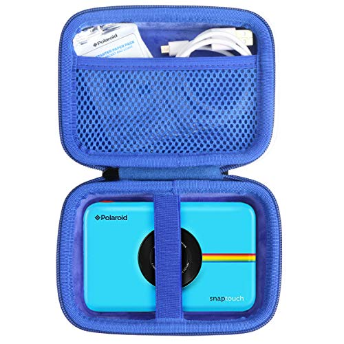 Khanka Hard Travel Case Replacement for Polaroid Snap Touch Instant Digital Camera (Blue Zipper)