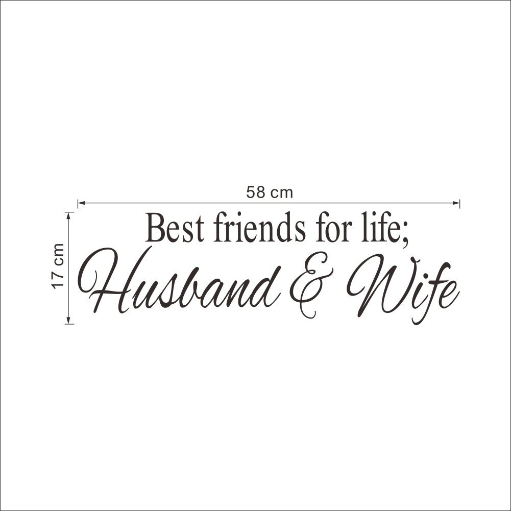 Amazoncom Fanglee Best Friends For Life Husband And Wife Quotes