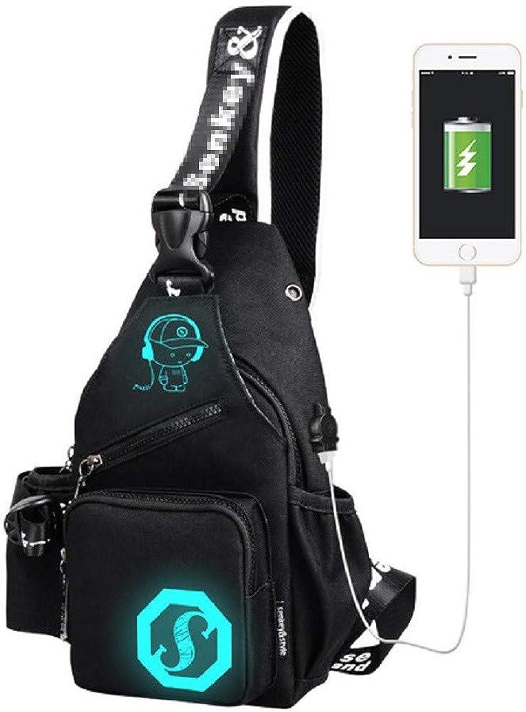 Urmiss Cool Skull Sling Bag Chest Shoulder Backpack Fanny Pack Crossbody Bag
