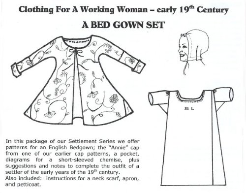19th Century Bed Gown Set Pattern