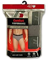 Russell Mens Comfort Performance 4-pk Sport Briefs