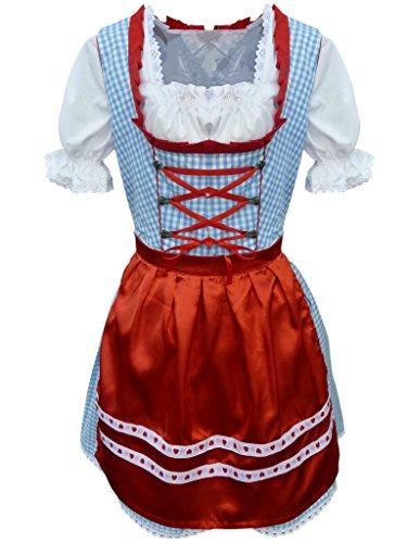 Dirndl-World-Womens-Di143-Piece-Mini-Dirndl-Dress-Blouse-Apron-Sizes-4-22
