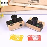 #4: 1 Pc Mini vintage camera wooden stamp diy Handmadedecal stamps for scrapbooking diy stamps Photo Album Craft gifts