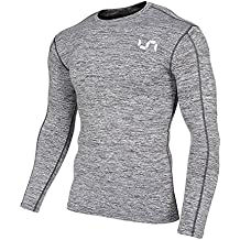 Take Five Man's Performance Compression Long-Sleeve T-Shirts With Side Pocket UV Protection
