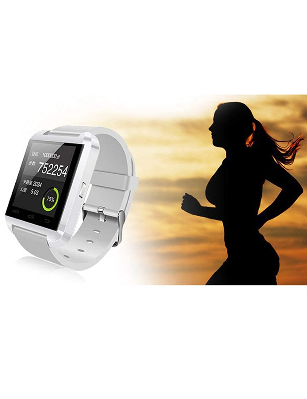 DZKQ Smart Watch Bluetooth Smartwatch U80 para Teléfonos ...
