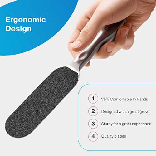 Foot Rasp Foot File And Callus Remover, Shaver, Pedicure Foot File Cuticle Cutter and Corn Remover Pedi tool To Remove Hard Skin, by Duvilo (Image #2)
