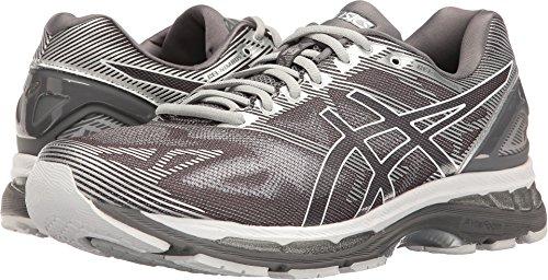 ASICS Men's Gel-Nimbus 19 Running Shoe, Carbon/White/Silver, 9 M US