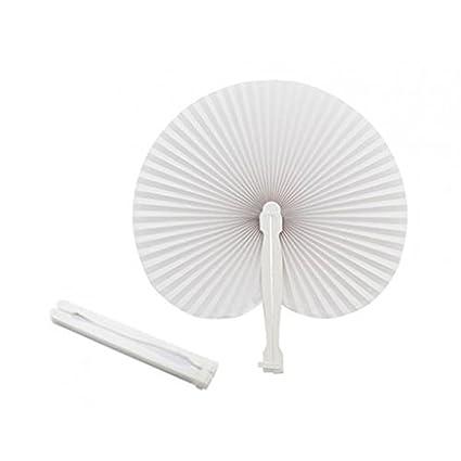 50 Handfächer, weiß, faltbar, aus Papier