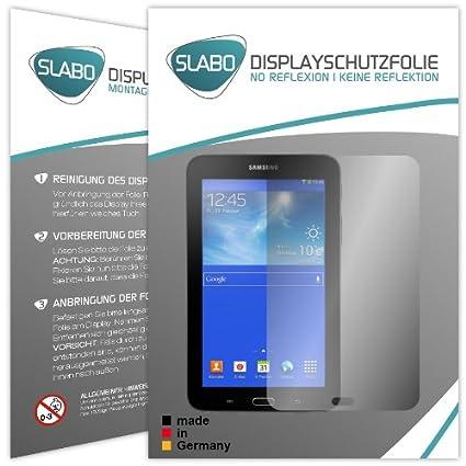 Slabo 2 x Displayschutzfolie kompatibel mit Samsung Galaxy Tab 3 7.0 Lite Displayschutz Schutzfolie Folie No Reflexion   Kein