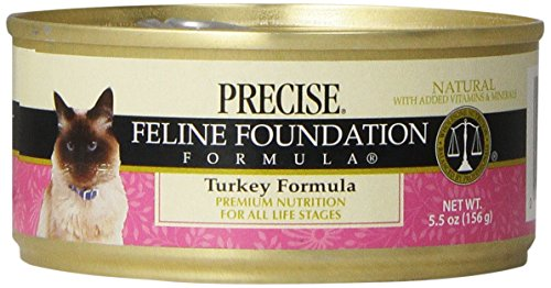 Precise 24-Pack Feline Foundation Turkey Food for Pets, 5.5-Ounce
