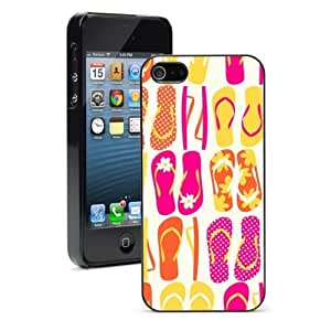 For Apple iPhone 4 4S Hard Case Cover Colorful Flip Flops Pattern -01